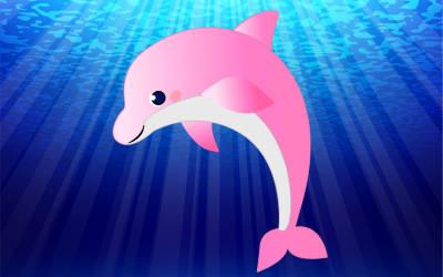 復縁に効果のある待受画像!ピンクのイルカ